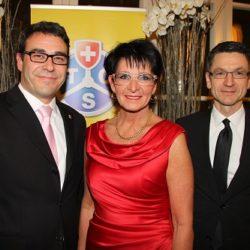 Mit Susanne Ballauf (TCS-Präsidentin Winterthur) und Peter Götschi (Präsident TCS Schweiz)