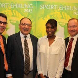Winterthurer Sportler Ehrung mit Beni Thurnherr, NR Jürg Stahl, Valerie Reggel wurde zur Winterthurer Sportlerin des Jahres gewählt