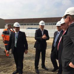 Spatenstich Produktionshalle Burckhardt Compression AG in Hegi