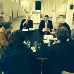 Medienkonfernz zur Abstimmung Werk 1 im Forum Architektur